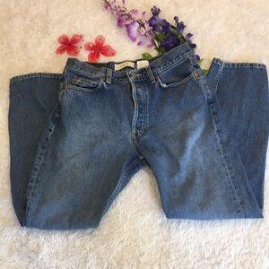 Gap boy-fit ankle jeans.
